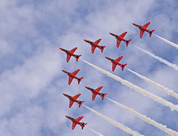 Red Arrows Over Pakefield